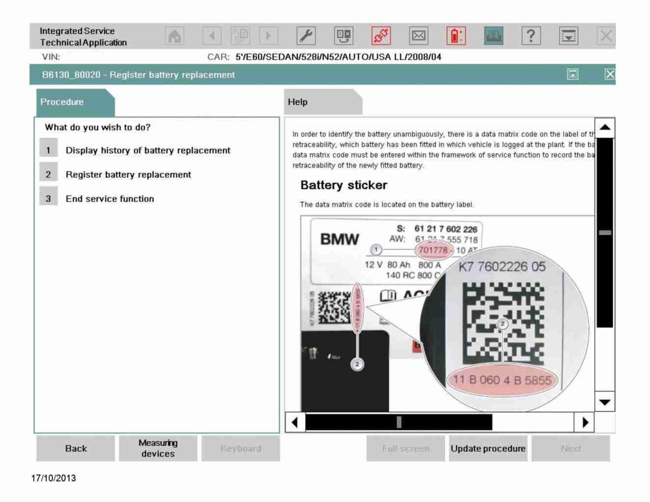 Bmw Battery Registration 187 Bimmerscan