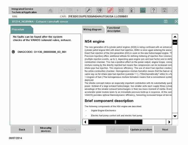 bmw vanos test bimmerscan ista d vanos test 2008 e92 335i