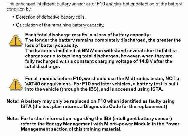Bmw Intelligent Battery Sensor Ibs 187 Bimmerscan