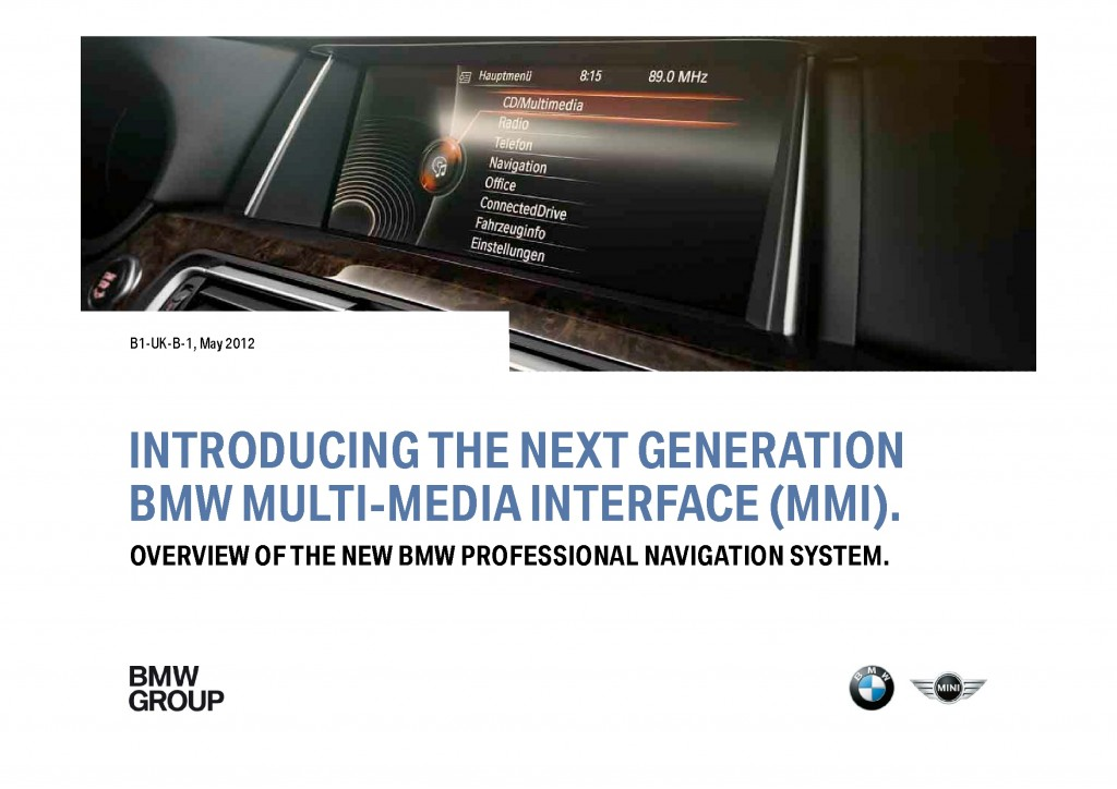 BMW Navigation Systems Overview