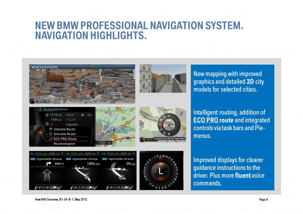 BMW Navigation Systems Overview, Page 9