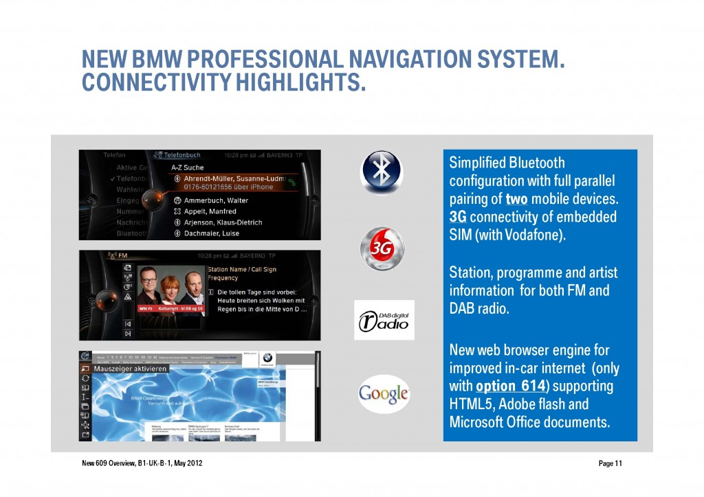 BMW Navigation Systems Overview, Page 11