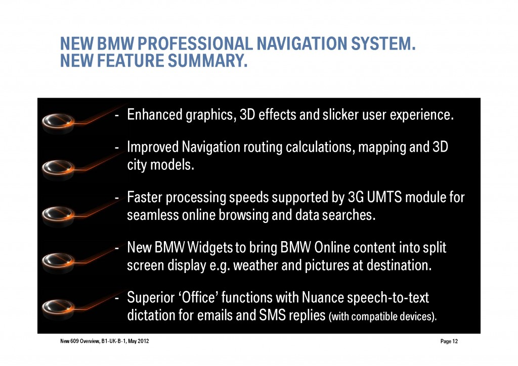 BMW Navigation Systems Overview, Page 12