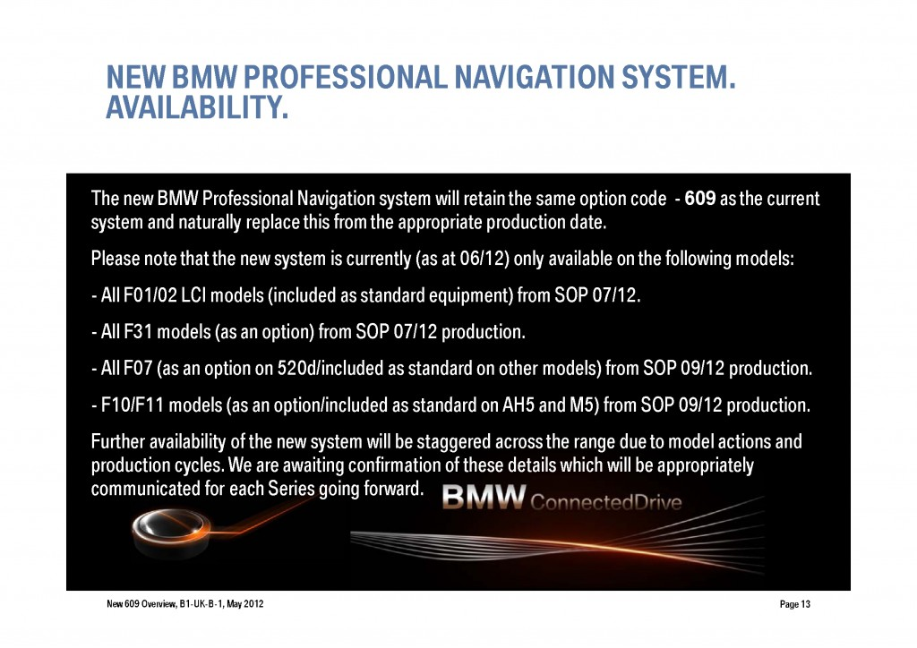 BMW Navigation Systems Overview, Page 13